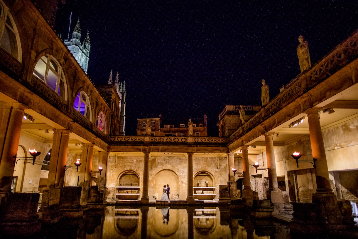Roman Baths wedding photo